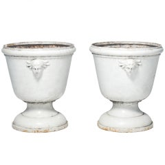 Pair of Elegant 19th Century French Urns with Figurative Decoration