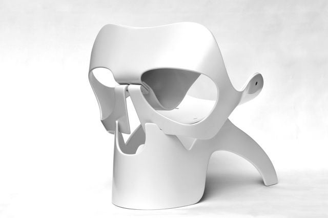 White Skull Chair By Vladi Rapaport For Sale At 1stdibs