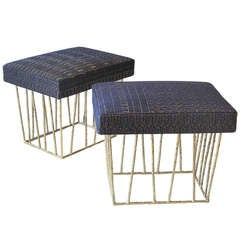 Cage Stool Pair by Anne and Vincent Corbiere