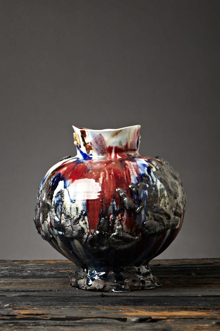 Quot Earth Invested Quot Sculptural Vessel By Gareth Mason For