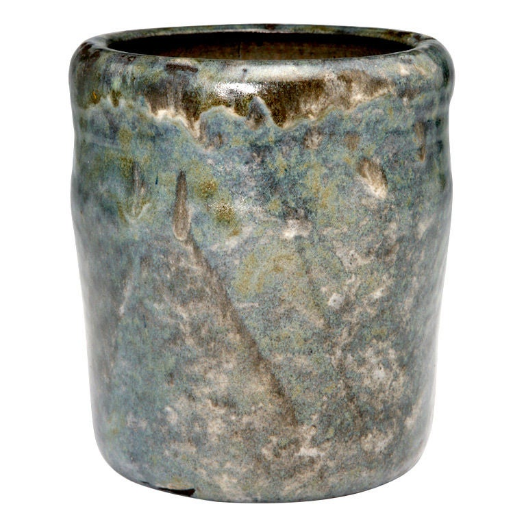 Art Deco Azurite Stoneware Vase By Paul Beyer At 1stdibs