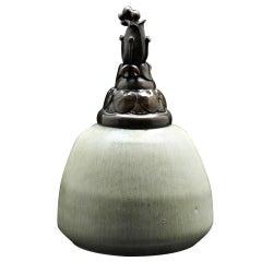 20th C. Covered Vase by Patrick Nordström for Royal Copenhagen
