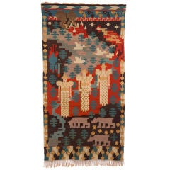 20th Century Three Maidens Tapestry by Gerhard Munthe