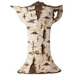 Ceramic Trompe L'oeil Paper Birch Teapot by Eric Serritella