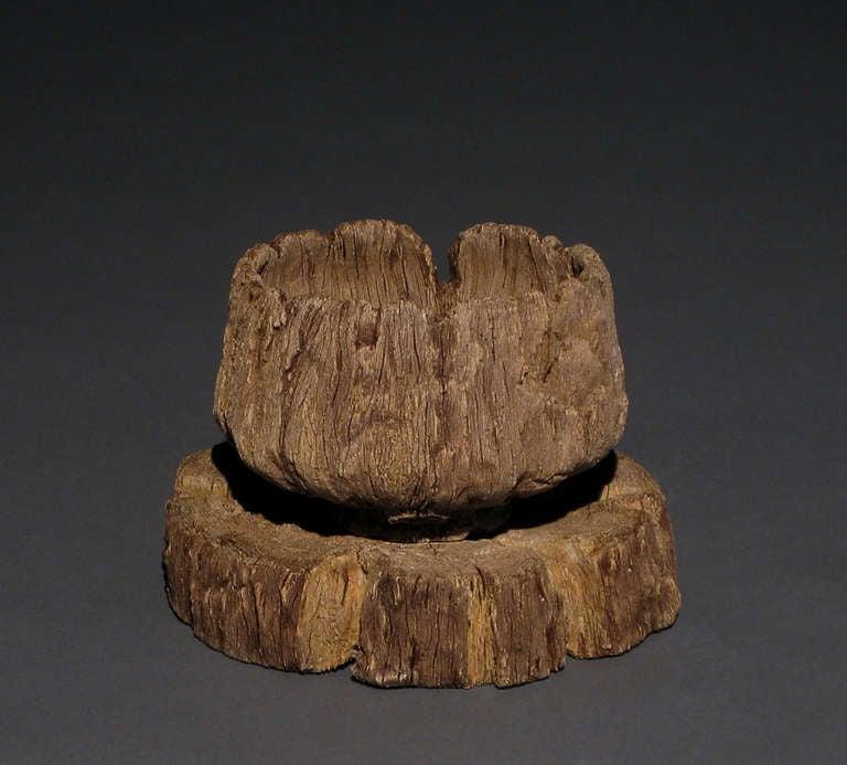ceramic trompe l 39 oeil weathered log tea bowl on tray by. Black Bedroom Furniture Sets. Home Design Ideas