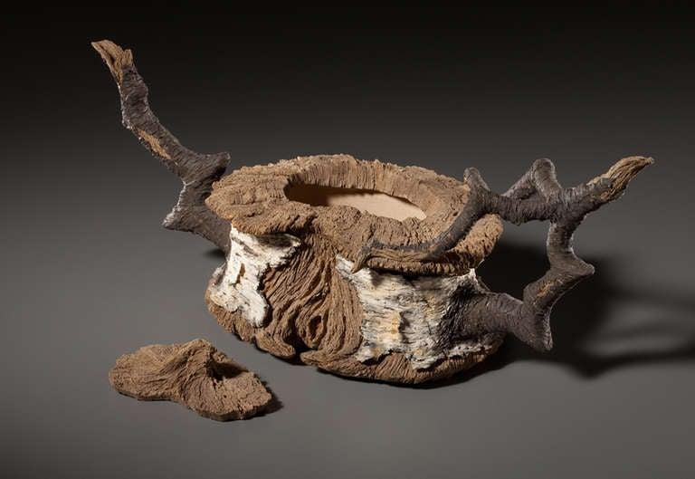 ceramic trompe l 39 oeil black branch birch stump teapot by. Black Bedroom Furniture Sets. Home Design Ideas