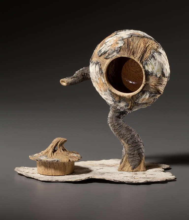 ceramic trompe l 39 oeil standing teapot by eric serritella. Black Bedroom Furniture Sets. Home Design Ideas
