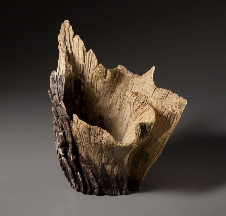 ceramic trompe l 39 oeil unfurled vase by eric serritella at. Black Bedroom Furniture Sets. Home Design Ideas