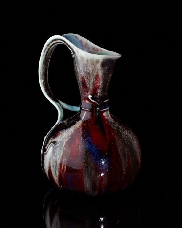 Art Nouveau Blood Vine Pitcher by Léon Kann for Sèvres 3