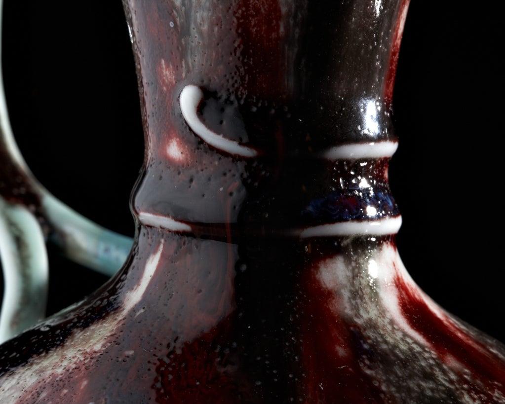 Art Nouveau Blood Vine Pitcher by Léon Kann for Sèvres 5