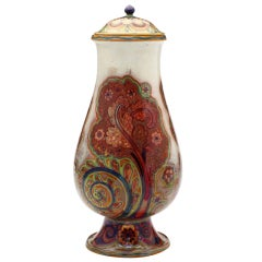 19th Century Liberty Paisley Lidded Vase by Galileo Chini