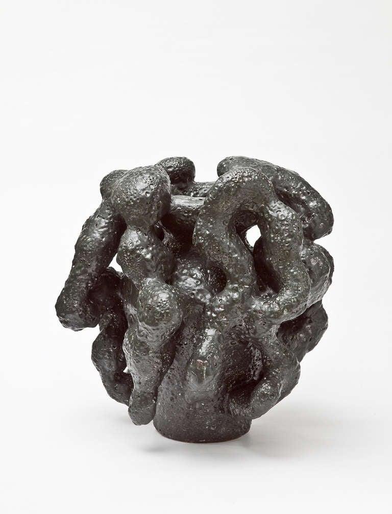 noir desir vase by morten l bner espersen at 1stdibs. Black Bedroom Furniture Sets. Home Design Ideas