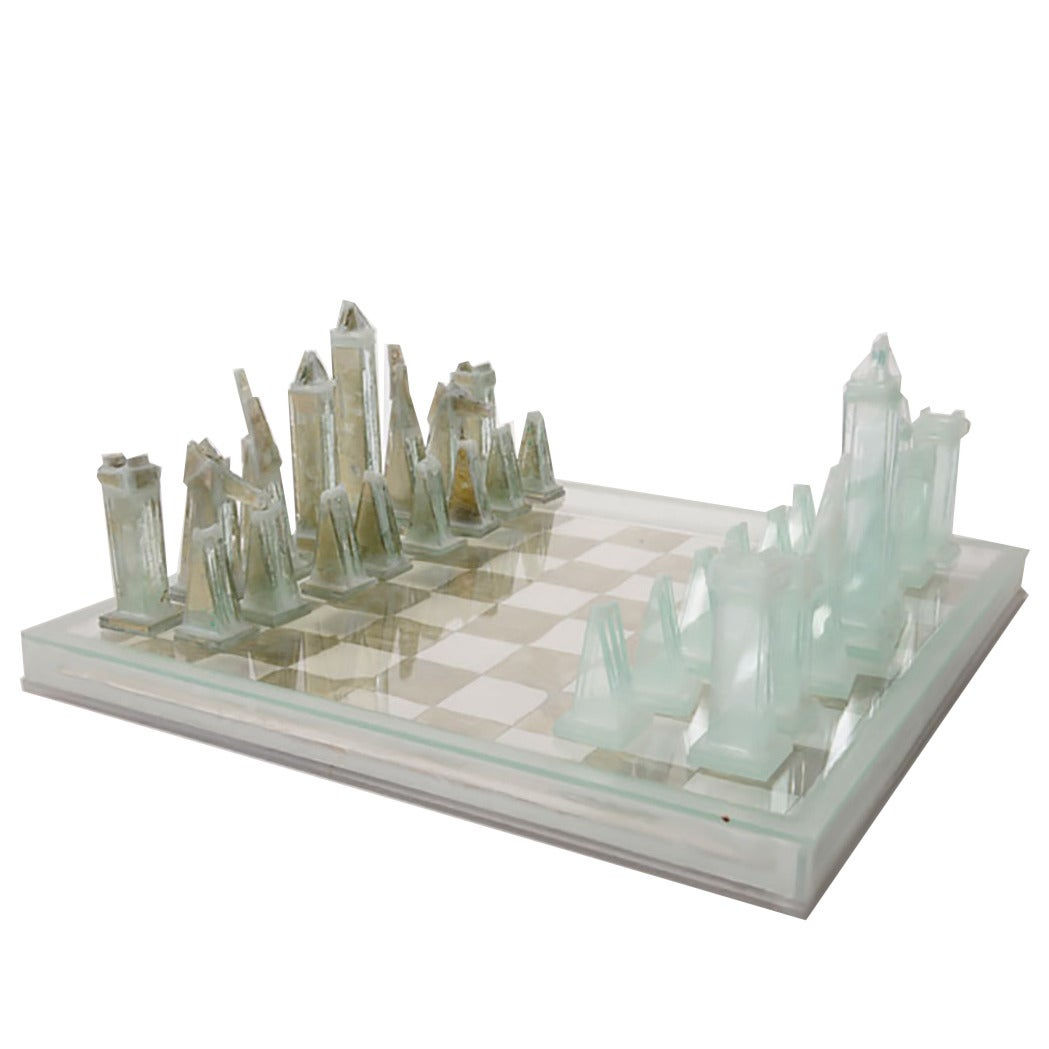 Clemens weiss chess object usa 2014 for sale at 1stdibs - Chess board display case ...