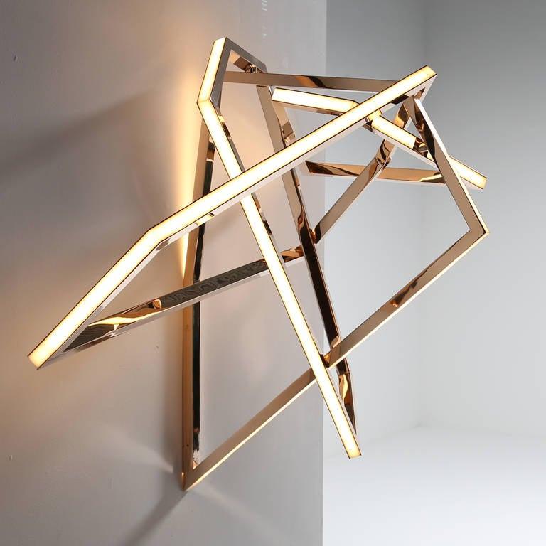 """Wall Light Sculpture: Niamh Barry, """"Gesture"""" Wall-Mounted Light Sculpture"""