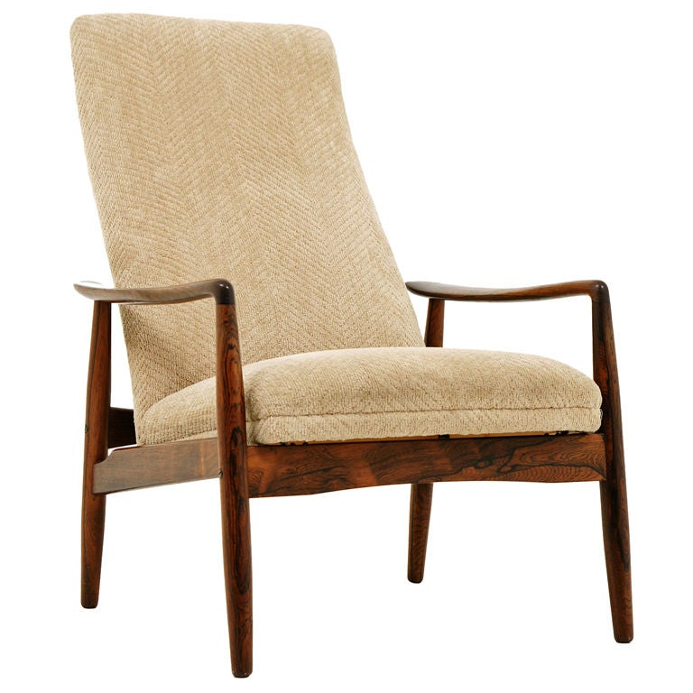 Rosewood Lounge Chair By Svend Langkilde For Sl Mobler At