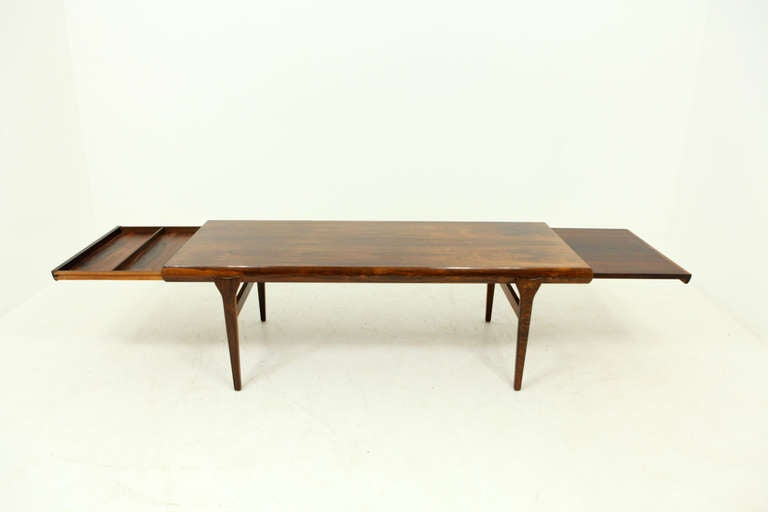 Rosewood Coffee Table by Johannes Andersen CFC at 1stdibs