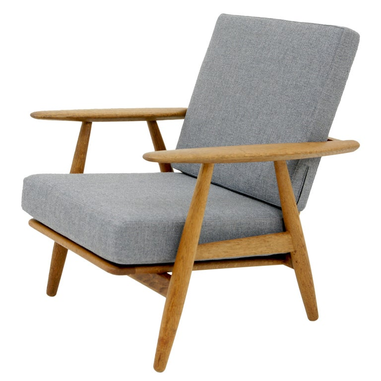 Oak Cigar Chair Model GE 240 By Hans Wegner for Getama at 1stdibs