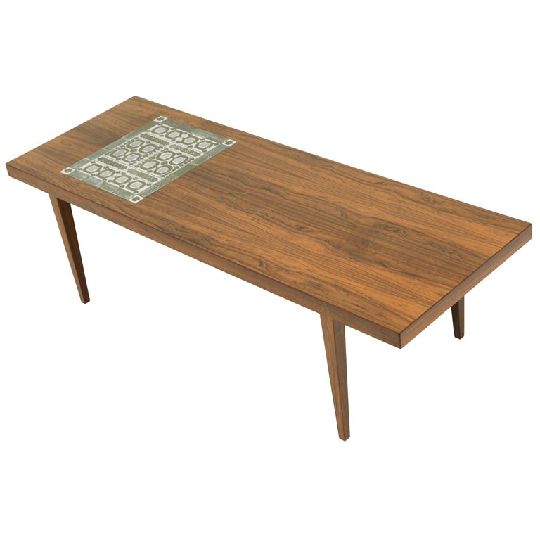 Rosewood Tile Top Coffee Table By Severin Hansen At 1stdibs
