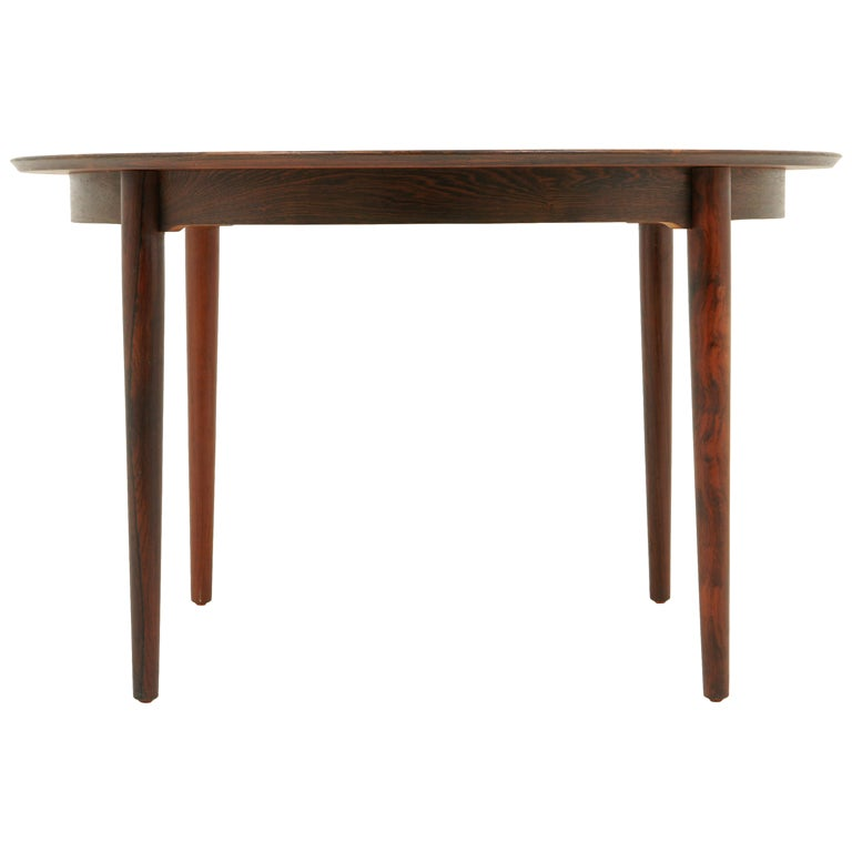 Danish Modern Rosewood Round Dining Table At 1stdibs