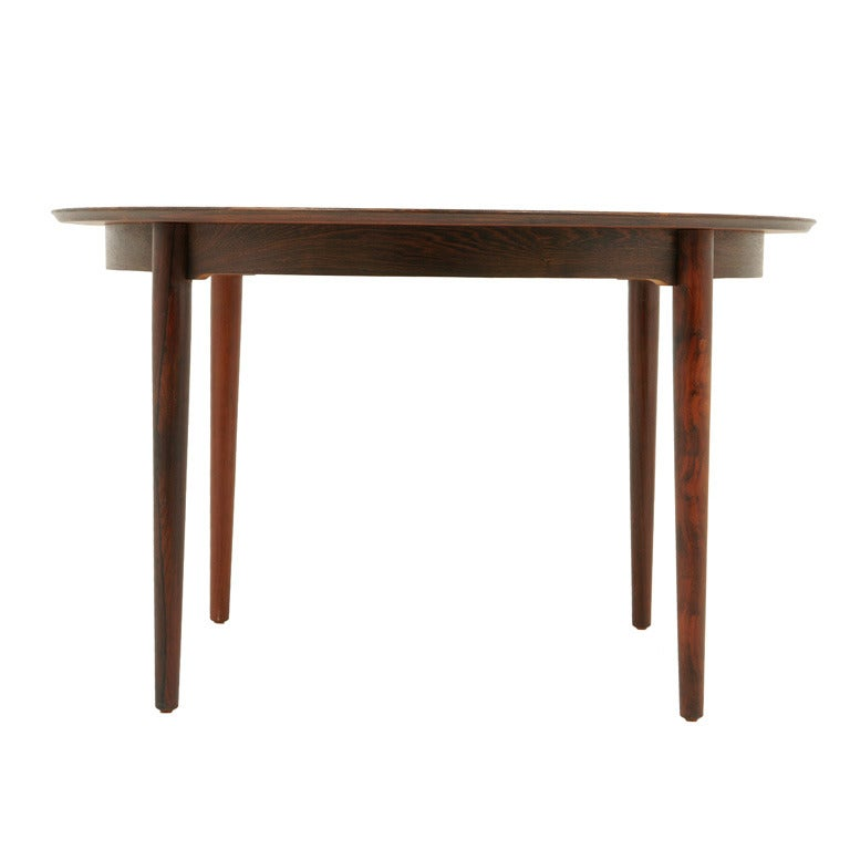 Florence Round Extended Table 92 117cm: Danish Modern Rosewood Round Dining Table At 1stdibs