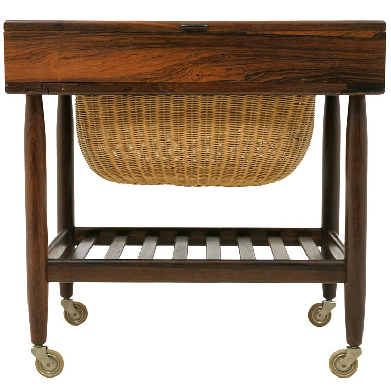 Danish rosewood sewing knitting table at 1stdibs for Table knitting