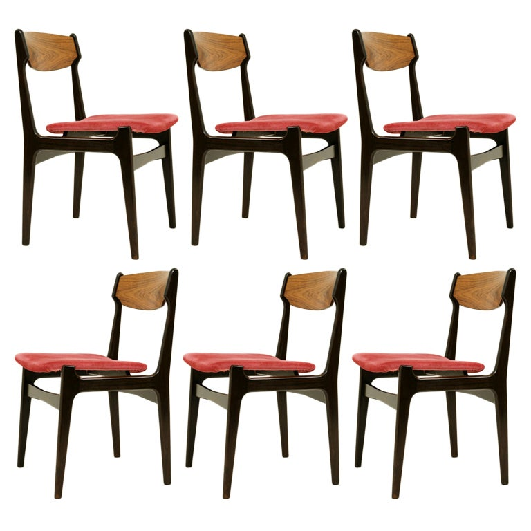Set 6 Rosewood Dining Chairs At 1stdibs