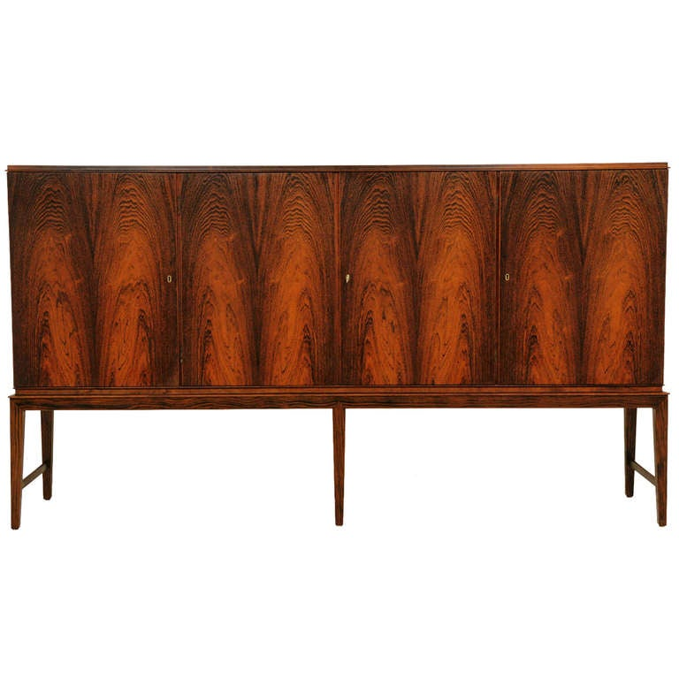 Rosewood tall sideboard by haslev 300 j83 at 1stdibs for Sideboard 300