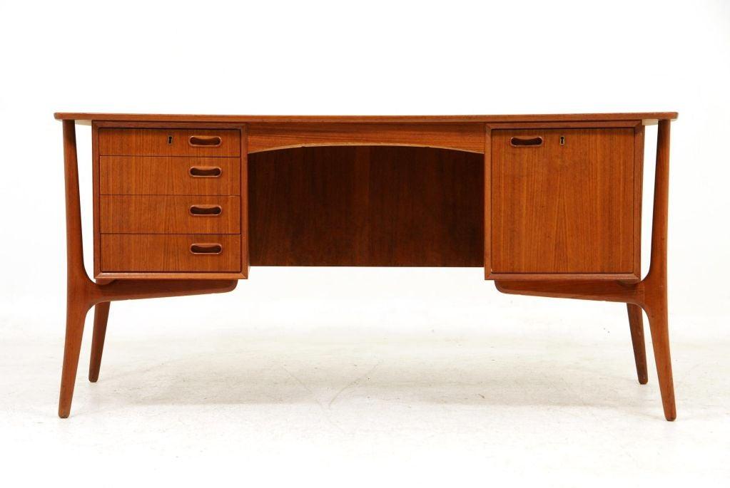Teak Writing Desk By Svend Madsen For H P Hansens