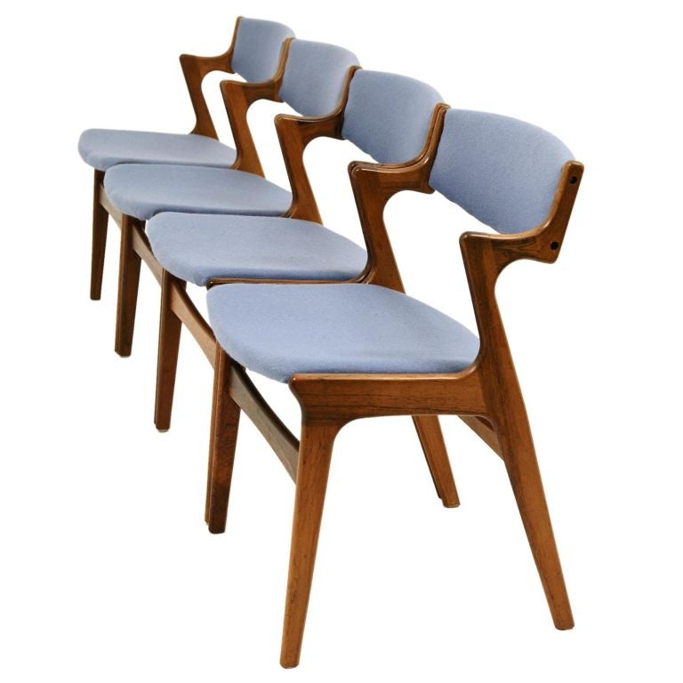 Rosewood Danish Modern Chairs by Nova Mobler at 1stdibs