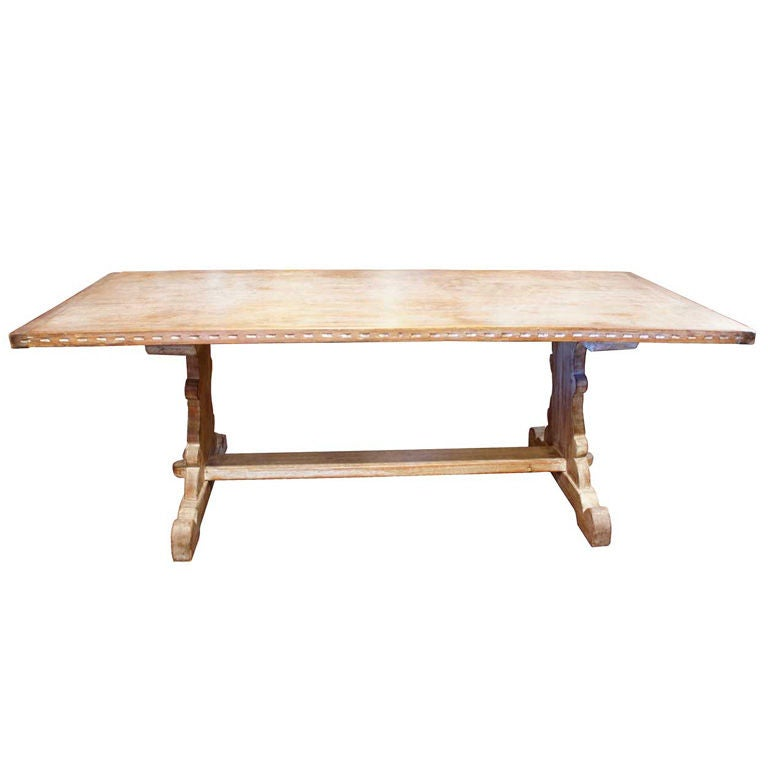 New Mexican Indian School Limed Oak Trestle Table at 1stdibs : XXX905513292636271 from www.1stdibs.com size 768 x 768 jpeg 24kB
