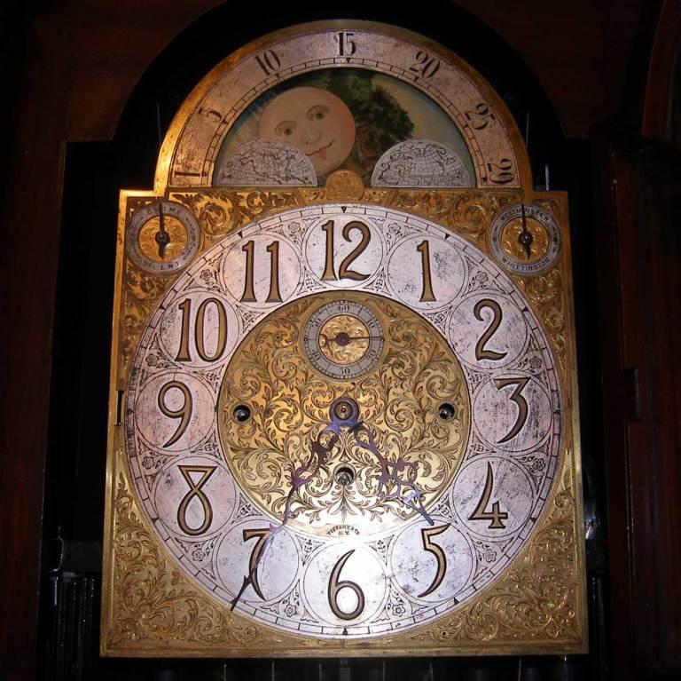 American Tiffany Mahogany Grandfather Clock image 6