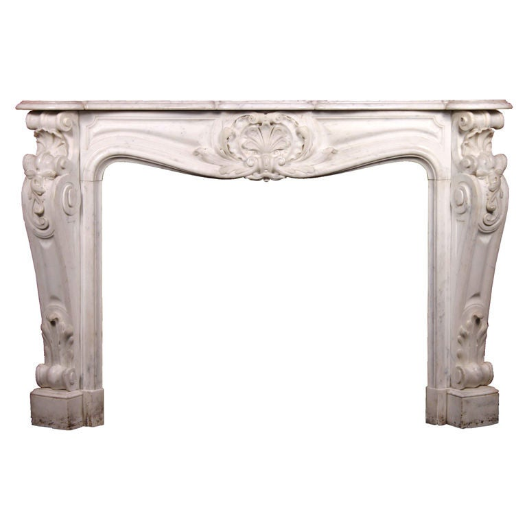Exceptional French Louis Xv Style Marble Fireplace Surround At 1stdibs