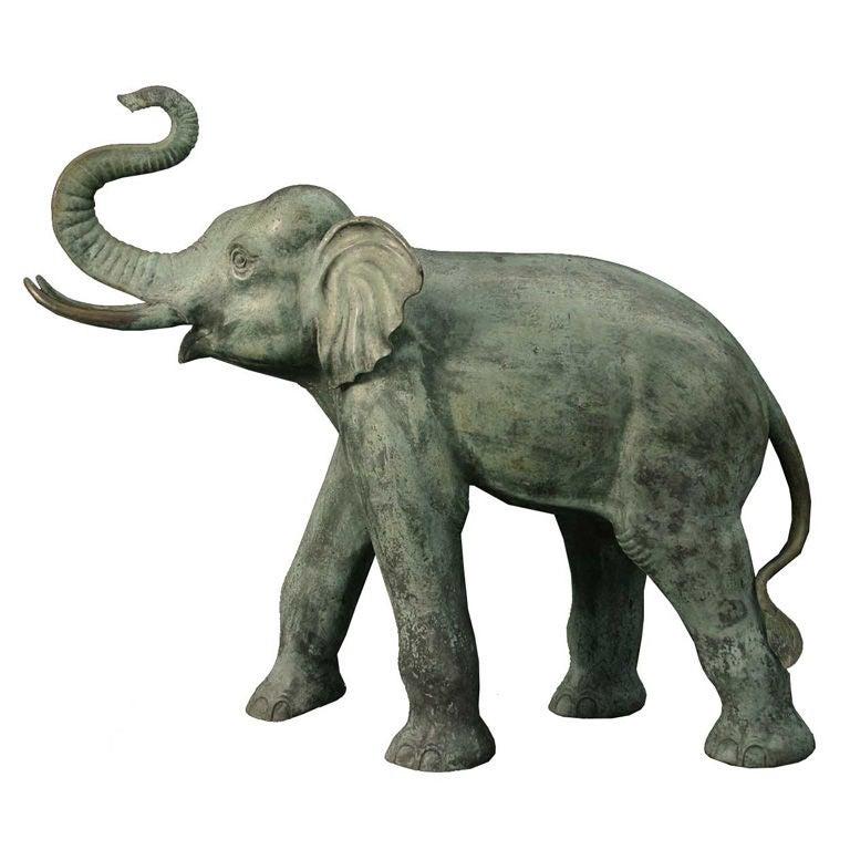 Large Continental Bronze Elephant Sculpture At 1stdibs