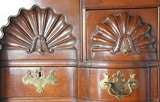 American Chippendale Style Walnut Block-Front Chest on Chest image 4