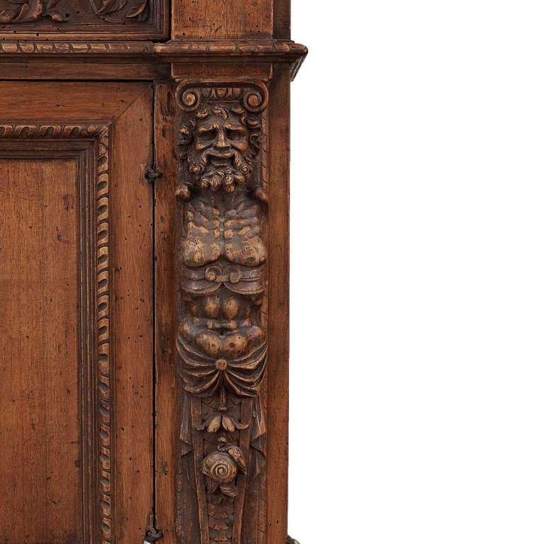 utility cabinets pair of italian renaissance revival walnut bookcases for 27894