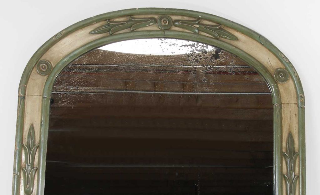 Large French Provinical Painted Arched Pier Mirror At 1stdibs