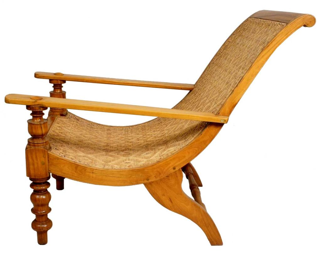 South Indian Caned Satinwood Planter 39 S Chair At 1stdibs