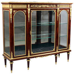Late 19th Century Gilt Bronze-Mounted Kingwood Vitrine by François Linke
