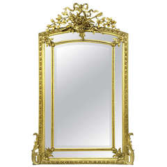 Late 19th Century Giltwood and Gesso Carved Mirror