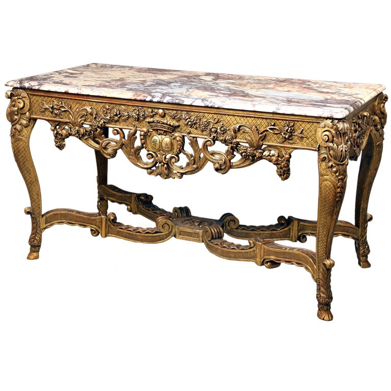 Fine Late 19th Century Louis XV Style Console Table For Sale