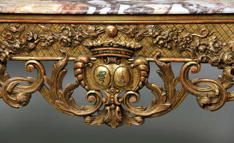 French Fine Late 19th Century Louis XV Style Console Table For Sale