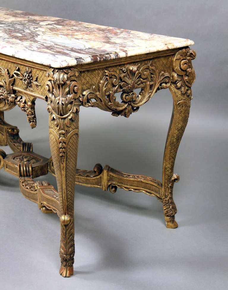 Fine Late 19th Century Louis XV Style Console Table In Excellent Condition For Sale In New York, NY