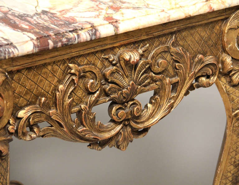 Marble Fine Late 19th Century Louis XV Style Console Table For Sale