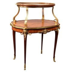 Late 19th Century Gilt Bronze-Mounted Tea Table