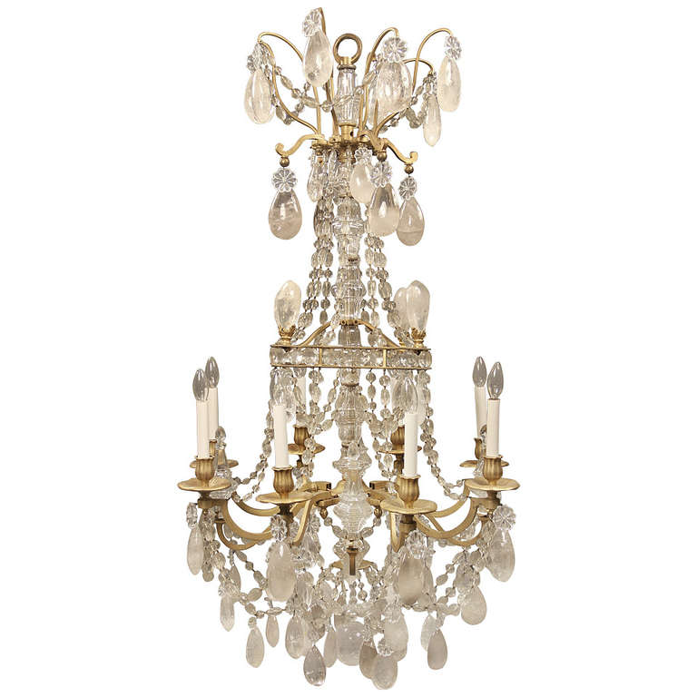 Late 19th Century Gilt Bronze And Rock Crystal Baccarat