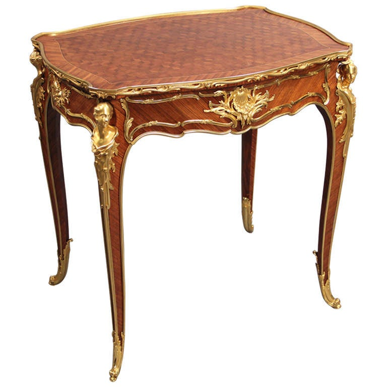 Gilt Bronze Mounted Lamp Table By Fran 231 Ois Linke For Sale At 1stdibs