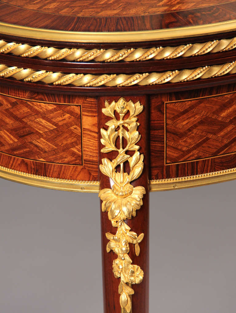 Card Table by François Linke In Excellent Condition For Sale In New York, NY