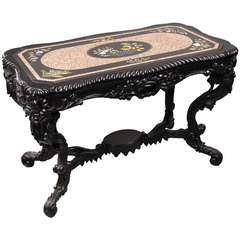 Antique Italian Pietra Dura Top Table