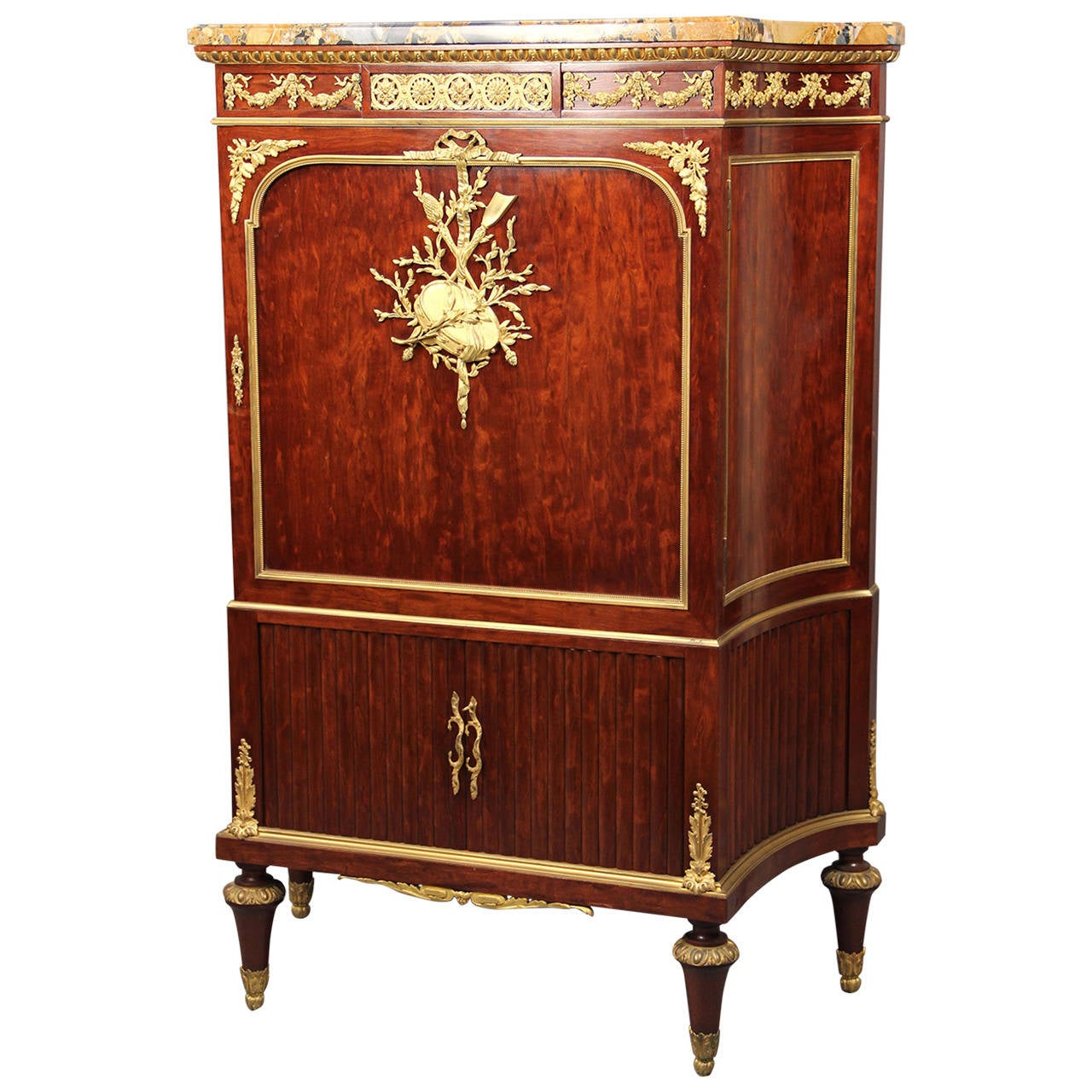 Late 19th Century Gilt Bronze-Mounted Cabinet by François Linke