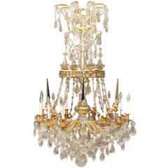 Very Fine and Special Mid-19th Century Baccarat Crystal Chandelier